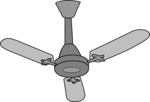 When A Ceiling Fan Has Just Three Blades Each Blade To Work Relatively Hard Move An Adequate Amount Of Air Around Room Have Cooling Effect