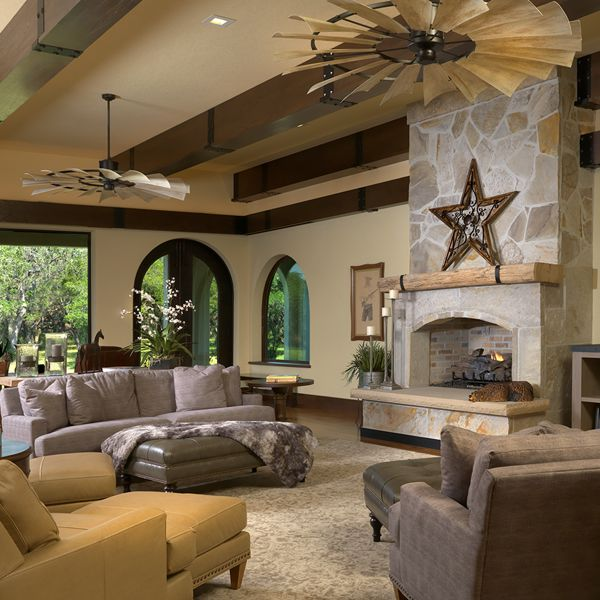 Small Living Room Layout Ideas: Windmill Ceiling Fans