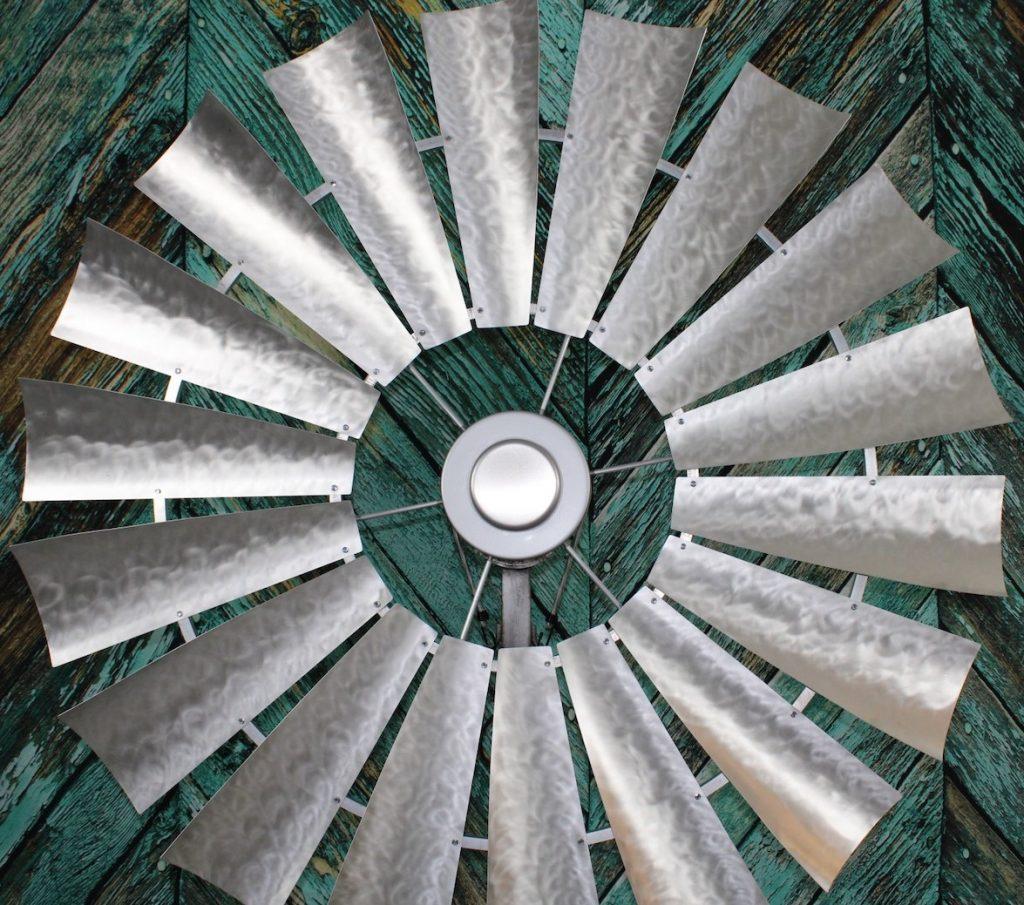 brushed-galvanized-metal-custom-windmill-finish